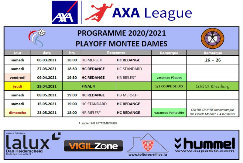 Programme AXA League Dames